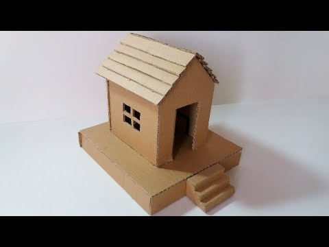 How To Make A Small Cardboard House (SIMPLE AND EASY WAY) Nice Ideas