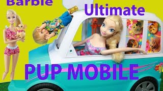 BARBIE Ultimate Pup Mobile ALLTOYCOLLECTOR and Grandma review Pups, Elsa, best BARBIE toy EVER!
