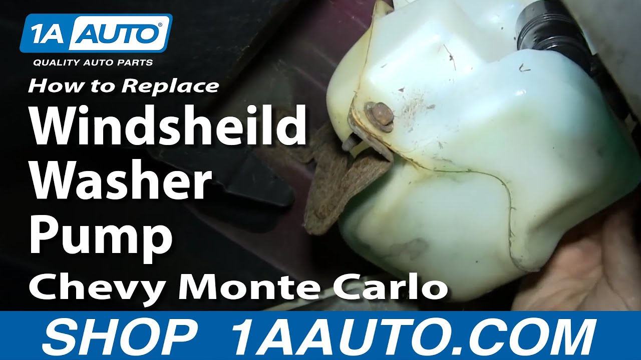 How To Install Replace Windsheild Washer Pump 200007 Chevy Monte Carlo  YouTube
