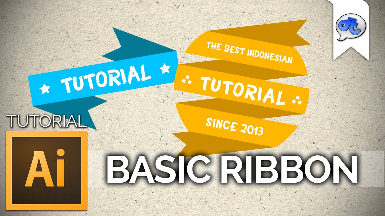 Adobe Illustrator | TUTORIAL #5 : BASIC RIBBON (Bahasa ...