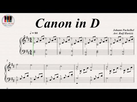 Canon in D - Johann Pachelbel, Piano