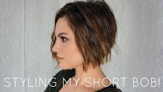 HOW I STYLE MY NEW HAIRCUT | WAVY SHORT BOB