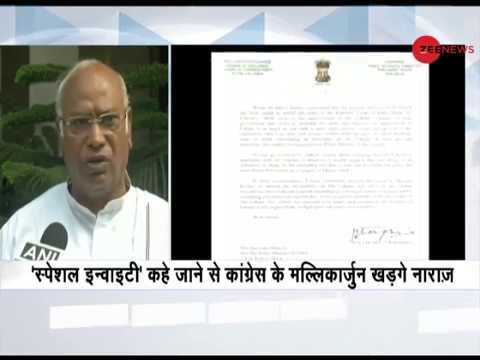 Congress party's Mallikarjun Kharge boycotts Lokpal meet