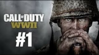 CALL OF DUTY WW2 Gameplay Walkthrough Part 1 Mission 1 D-DAY (Campaign) (No Commentary)