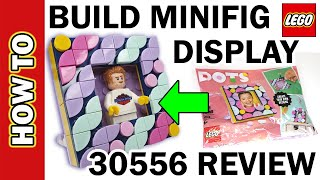 LEGO DOTs Minifig Frame Display review and How to Build / Make Tutorial. Review Set 30556