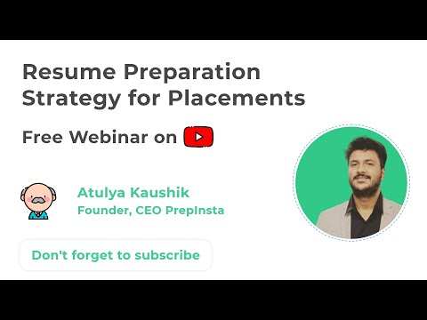 Resume Preparation For Freshers   Strategy For Placements