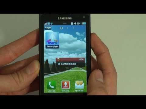 Samsung S8530 Wave II Test Bedienung