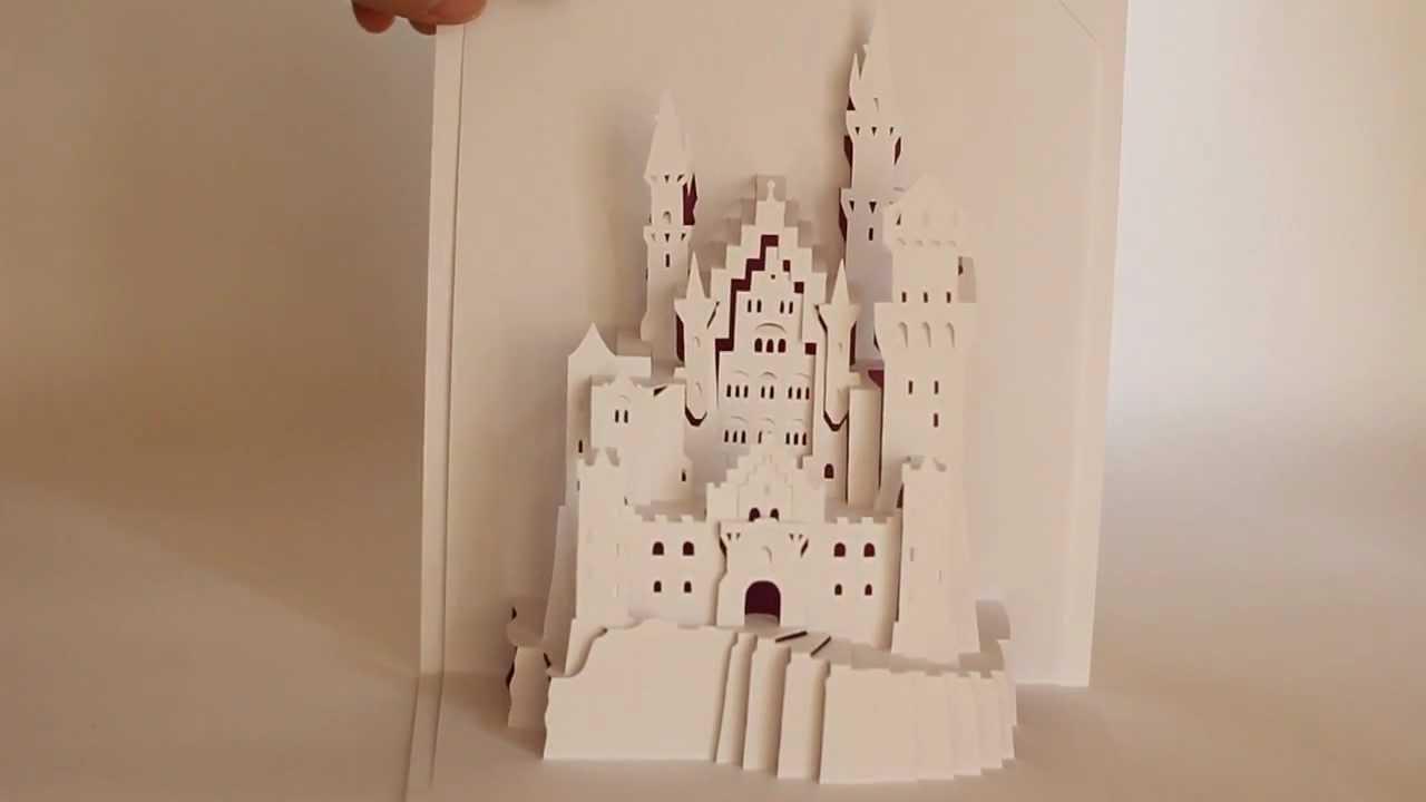 origamic architecture neuschwanstein castle  refined