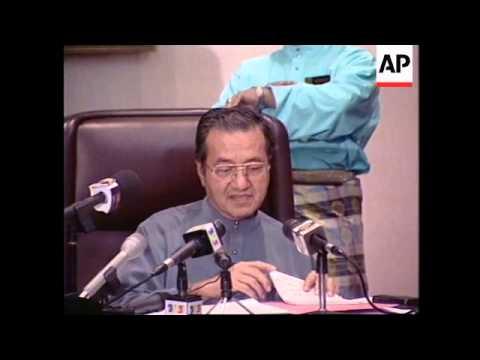MALAYSIA: MAHATIR ANNOUNCES NEW DEPUTY PRIME - MINISTER