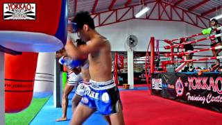 Chankrit, Saenchai, Chanajon High-Intensity Interval Training - YOKKAO Muay Thai Camp Bangkok