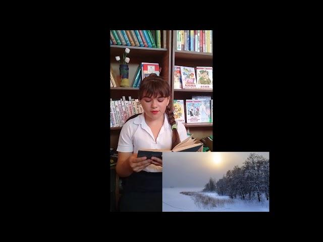 Изображение предпросмотра прочтения – МарияМалай-попа читает произведение «Еще вчера на солнце…» А.А.Фета