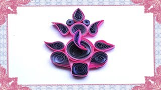 Paper Quilling : How to make lord ganesha