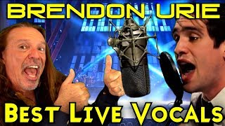 Vocal Coach Reacts To Brendon Urie's Best Live Vocals - Ken Tamplin