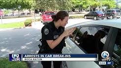 Boca Raton police make arrests after car break-ins