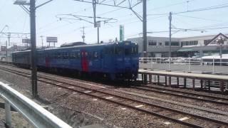 佐世保線を走る快速電車シーサイドトレインです。