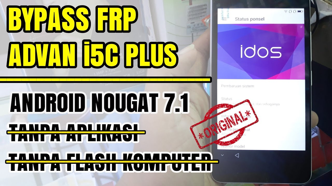 Bypass Frp Advan I5c Plus Vandroid Google Account Tanpa Pc Tanpa