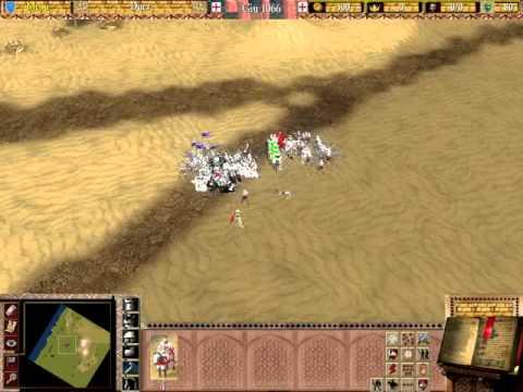 Stronghold 2 Crusader Battle of Mongisard Baldwin IV vs Saladin 3of4