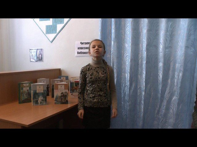 Изображение предпросмотра прочтения – БиблиотекаРодинская читает произведение «Ворона и Лисица» И.А.Крылова