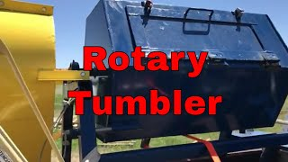 The rotary tumbler for removing forge scale