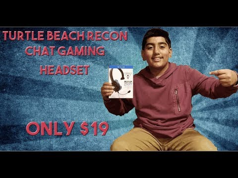 Unboxing Turtle Beach Recon Chat Gaming Headset Only $19 Work For (Ps4, Xbox, Phone)