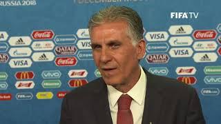Carlos QUEIROZ – IR Iran - Final Draw Reaction