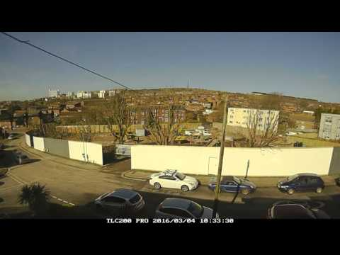 Time Lapse Findon Road-Building Kite Place Brighton. 1st 4weeks work