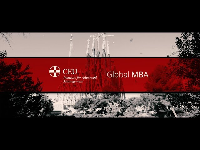 Global MBA, CEU IAM Business School - Youtube frame