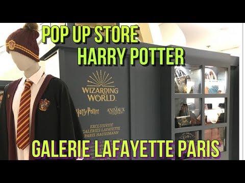POP UP STORE HARRY POTTER - GALERIES LAFAYETTE - PARIS - OPERA - HAUSSMANN - VLOG