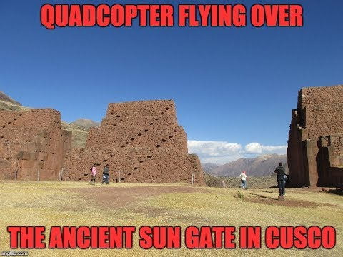 Quadcopter Flying Over Ancient Inca Ruins Near Cusco Peru