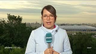 Phoebe Gaa aus Moskau zur Eröffnung der Fußball-WM 2018 in Russland