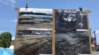 高槻城二の丸跡 北辺部の調査 パネル前での説明 thumbnail