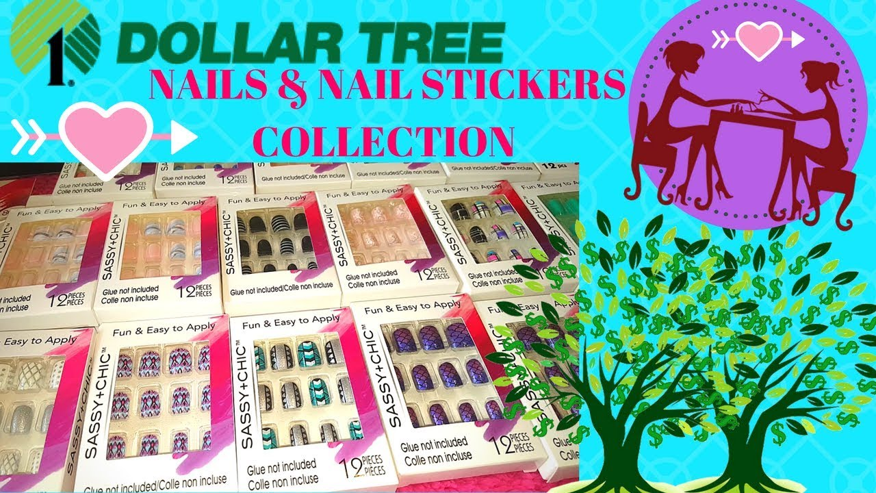 MY FAVORITE DOLLAR TREE NAILS AND NAIL STICKERS!! SEPT 2017 - YouTube