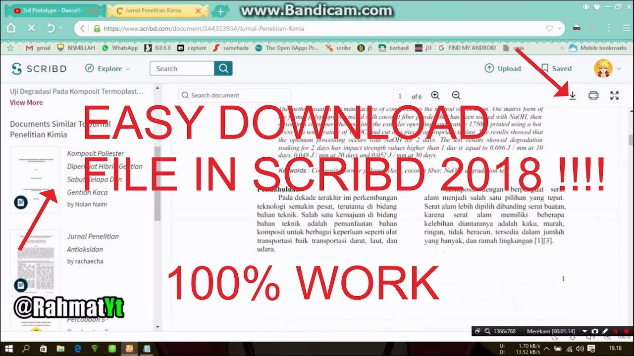 (EASY) HOW TO DOWNLOAD SCRIBE 2019 !!! Cara download File Di scribd 2019