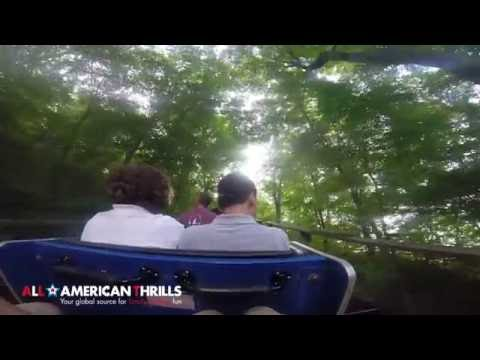 Boulder Dash Lake Compounce Back Row POV From All-American Thrills