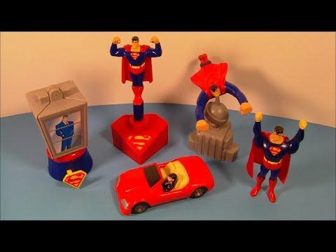 1997 SUPERMAN SET OF 5 BURGER KING KID