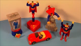 1997 SUPERMAN SET OF 5 BURGER KING KID'S MEAL TOY'S VIDEO REVIEW
