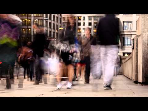 LONDON BRIDGE busy people time lapse, HD & 4K Stock Footage