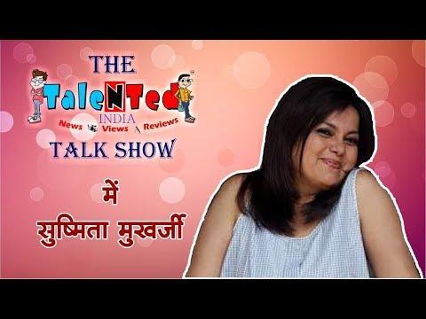 Bollywood Actress Sushmita Mukherjee At The TaleNTed India Talk Show
