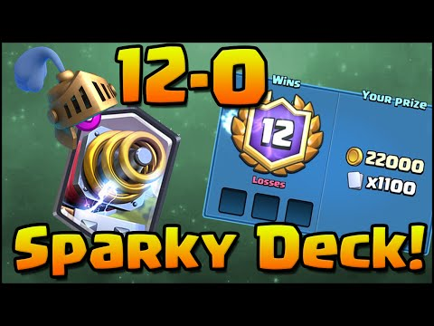 12-0 Grand Challenge! Clash Royale - Best Sparky Deck and Strategy!