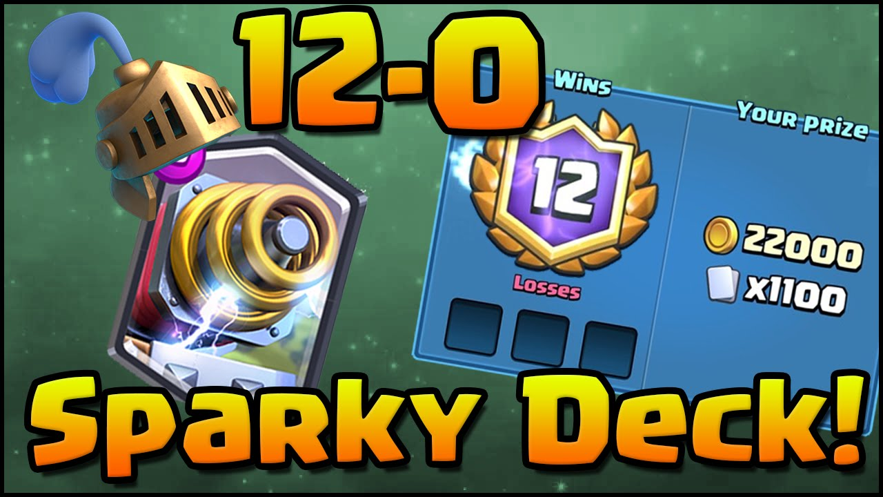 12 0 Grand Challenge Clash Royale Best Sparky Deck And