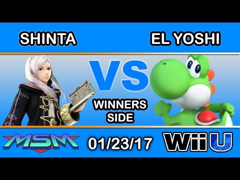 MSM 82 - TiE | Shinta (Robin) Vs. GO! | El Yoshi (Yoshi) Winners Side - Smash Wii U