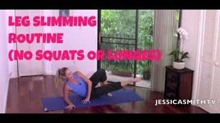 Thigh Slimming, Inner Thighs, Pilates: Full Length Leg Slimming Routine No Squats Or Lunges