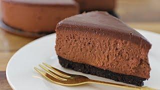No-Bake Chocolate Cheesecake Recipe (Without Gelatin)