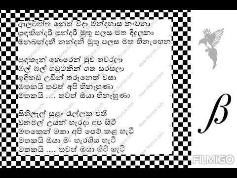Alawantha Neth Wida ( Muthu Palasa Teledrama Theme Song) Karaoke Sinhala Song