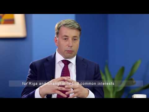 Yicai interviews Mr.Uldis Augulis, Minister for Transport, Latvia (10/13)