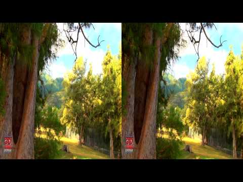 3D Mountain View with Trees Hawaii Nature Scene FREE 3D Video Everyday N°10