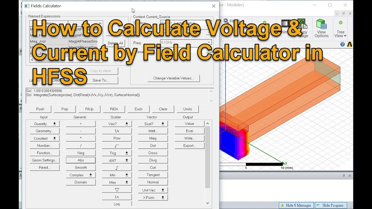 How to Calculate Voltage and Current in Structure by Field Calculator in  HFSS