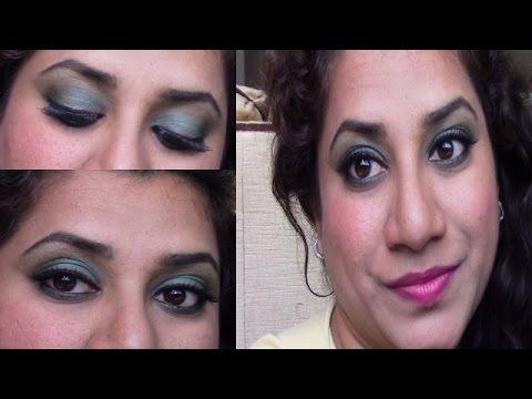 Turquoise smokey eye look for summer/spring/tutorial/makeup