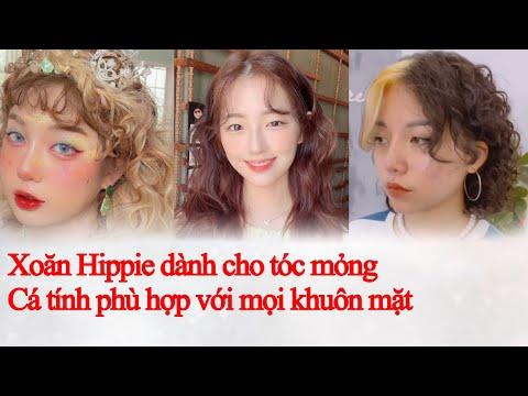 Tóc Đẹp : kiểu tóc Xoăn Xù Mì- Xoăn Hippie Hàn Quốc xinh muốn xỉu