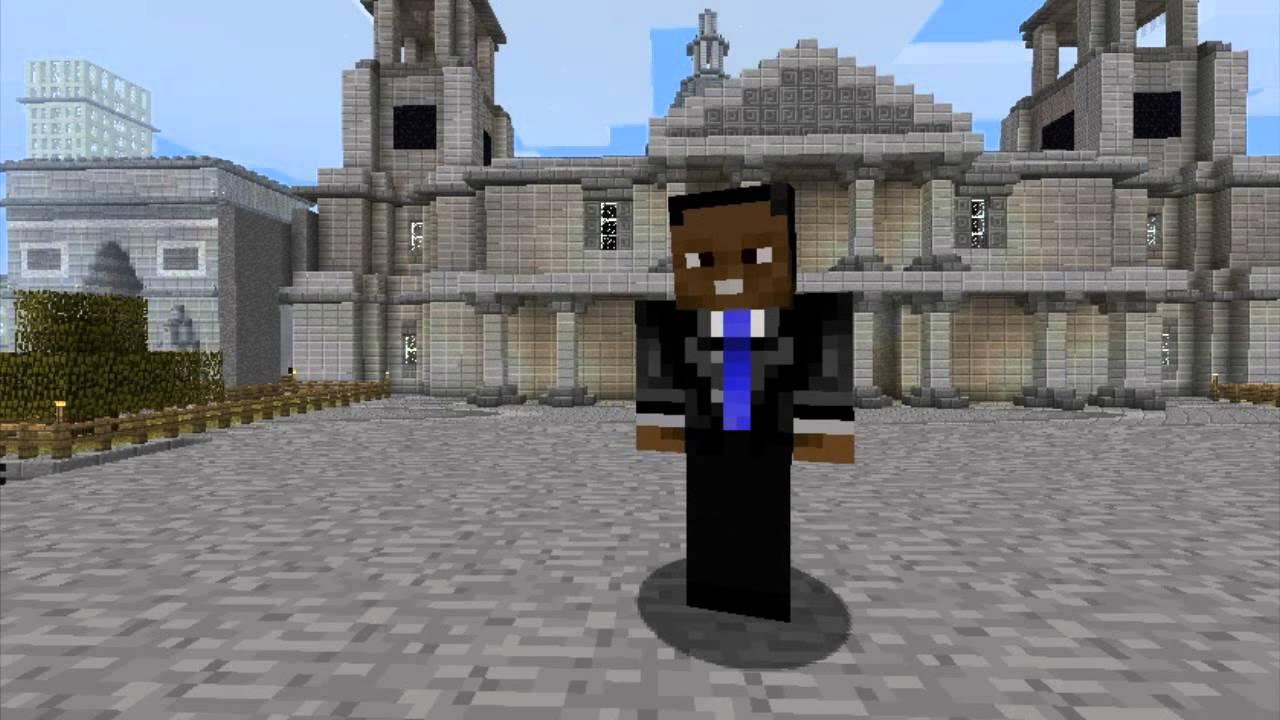 Minecraft Skins President Barack Obama YouTube - Skin para minecraft pe de obama
